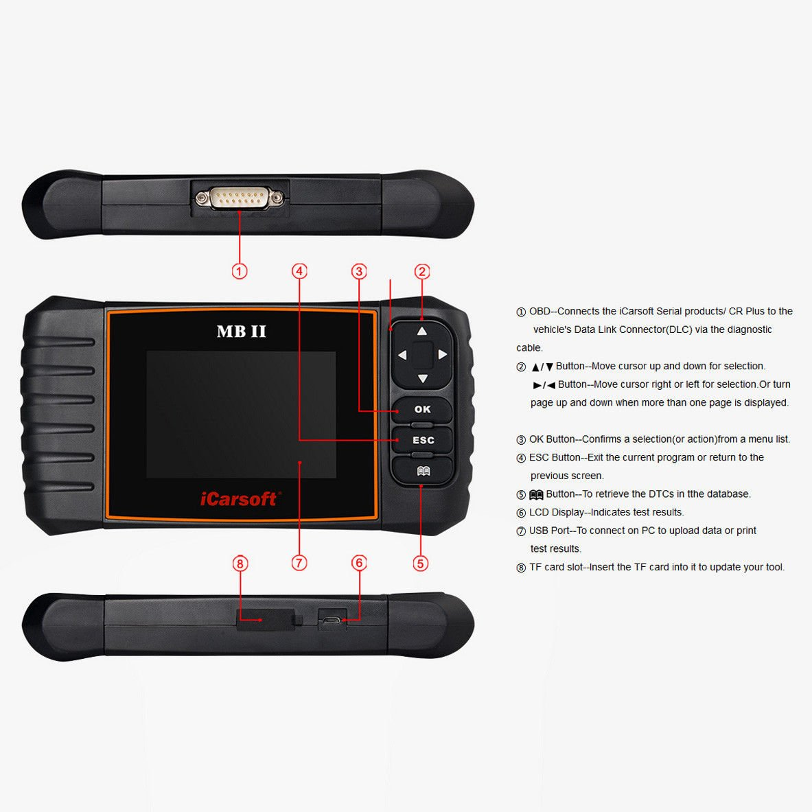 iCarsoft MBII for Mercedes Benz/Sprinter/Smart Professional Diagnostic Tool Scanner, New Version by iCarsoft (Image #3)