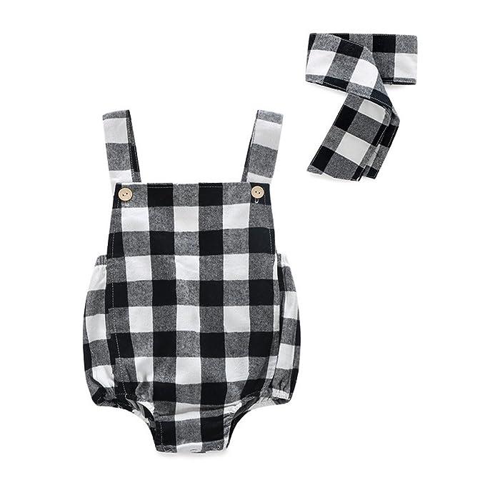 kimocat Bodies para bebé niñas Pelele ropa algodón sin mangas correa: Amazon.es: Ropa y accesorios