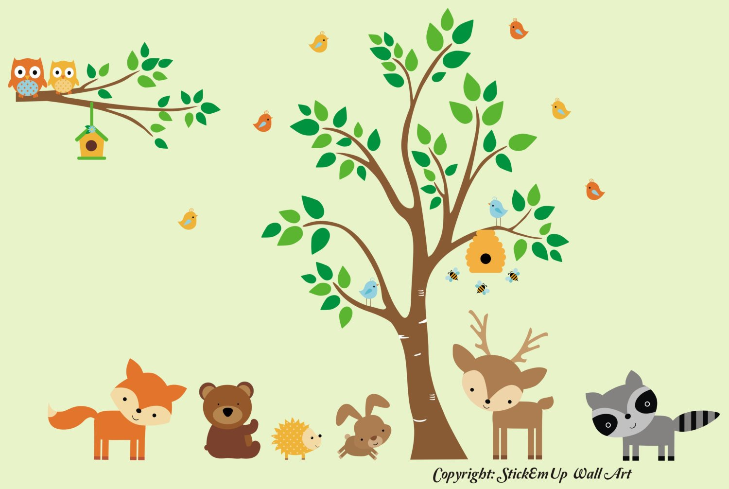 Amazon.com: Nursery Wall Decals - Forest Animal Wall Decals ...