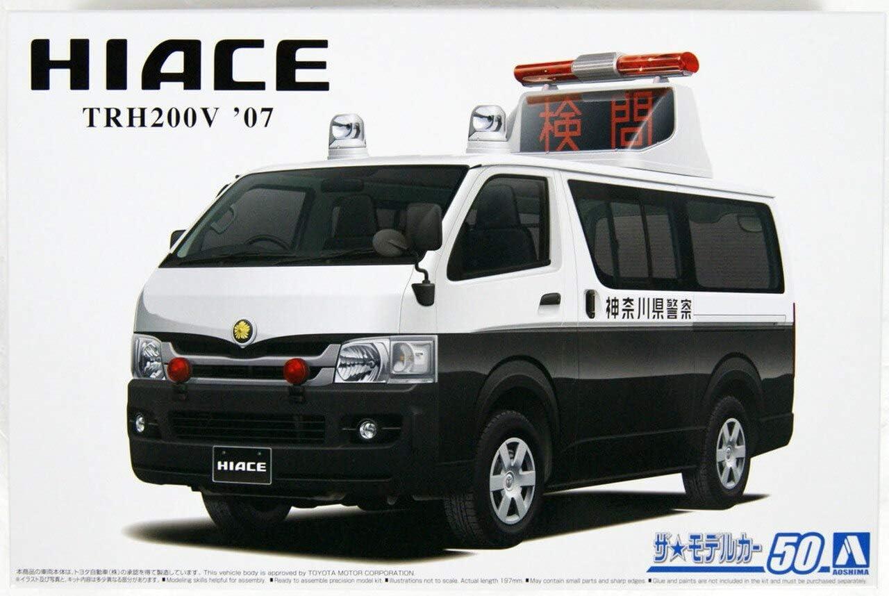 Aoshima 1/24 Scale TRH200V Hiace '07 Accident Processing Car - Plastic Model Building Kit # 58152