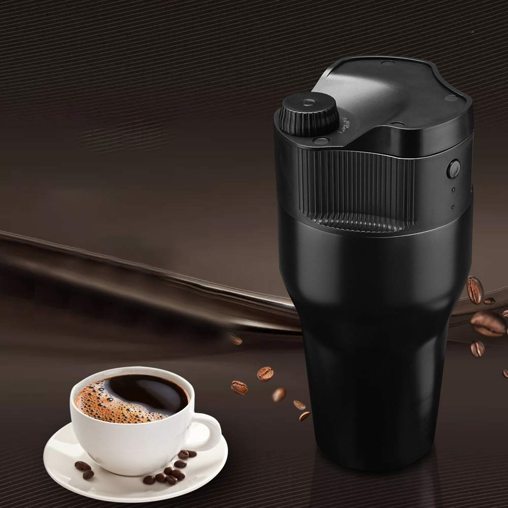 root907 Simple Portable Coffee Maker Travel Mug with K cup Filter USB Espresso Maker Travel Coffee Machine Perfect for Camping, Hiking, Driving car and Office by root907