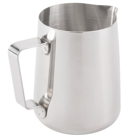 Acero inoxidable jarra para leche espumosa | perfecto para máquinas de café Espresso, leche,