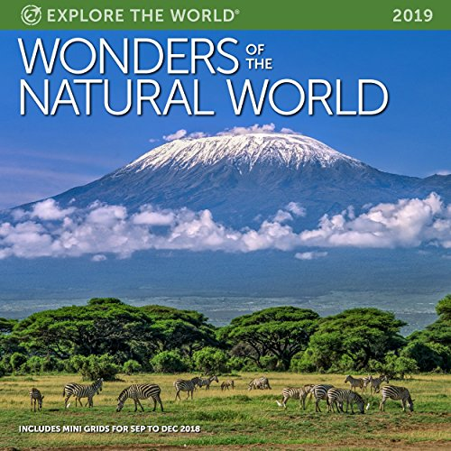 Wonders of The Natural World Wall Calendar 2019 Monthly January-December 12