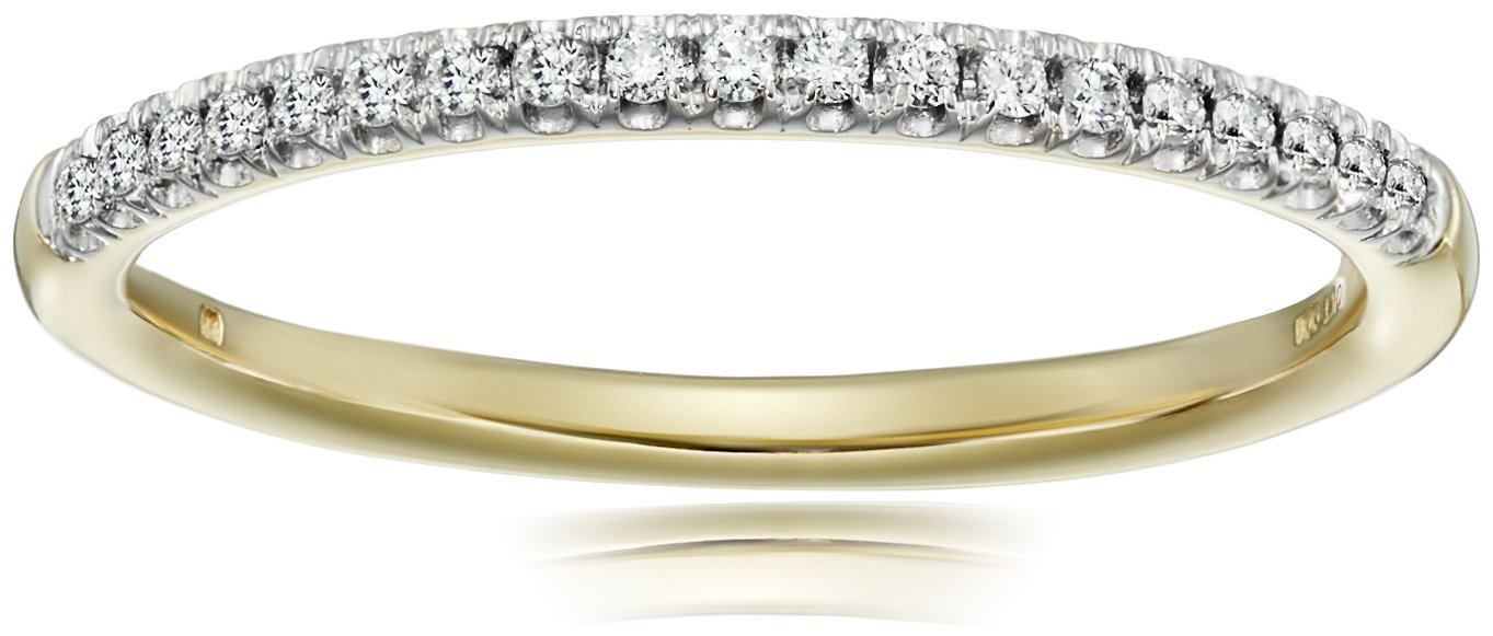 10k Yellow Gold Diamond Prong Anniversary Ring (1/10cttw, I-J Color, I3 Clarity), Size 7