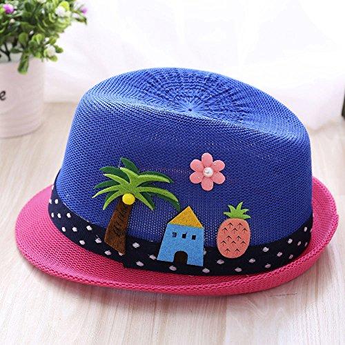 Lovely Sombrero de Bordado de Letra Árbol de Coco para Fiesta Ceremonia  Bebé Gorras de Jazz a767dbe1052
