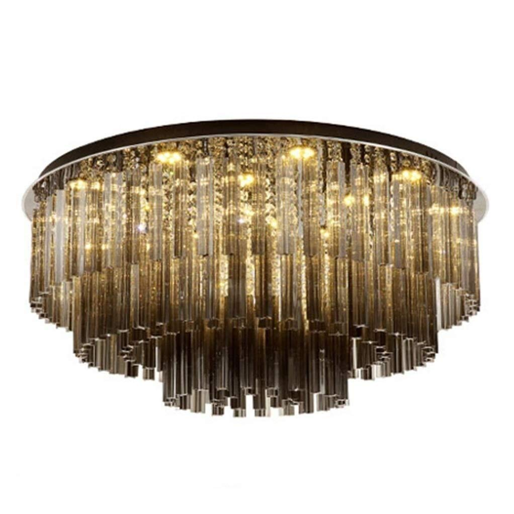 Office Ceiling Lights Modern Luxury Chandeliers Room Ceiling Light Crystal Dining Light Living Room Round Crystal Decorative Lighting (Color : Black, E14 Light Source16) Energy Level A+++ by Xk-Ceiling Lights