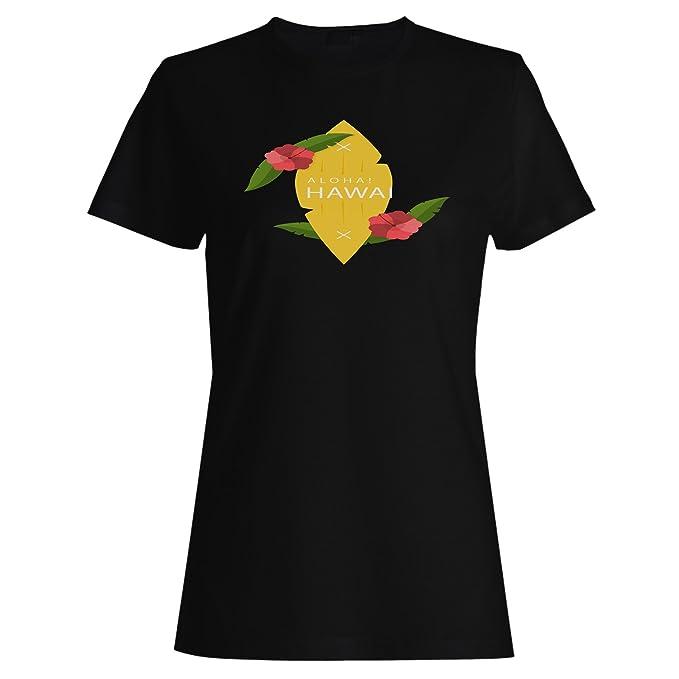 Nueva Decoración Floral De Tabla De Surf camiseta de las mujeres i112f: Amazon.es: Ropa y accesorios