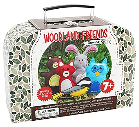 Craftster's Sewing Kits Woodland Animals Craft Educational Sewing Kit for 7 to 12 Age Kids (Educational Kits)