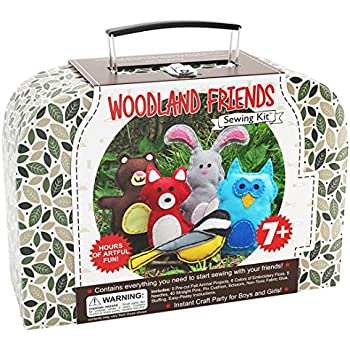 Craftster's Sewing Kits Woodland Animals Craft Educational Sewing Kit for 7 to 12 Age Kids