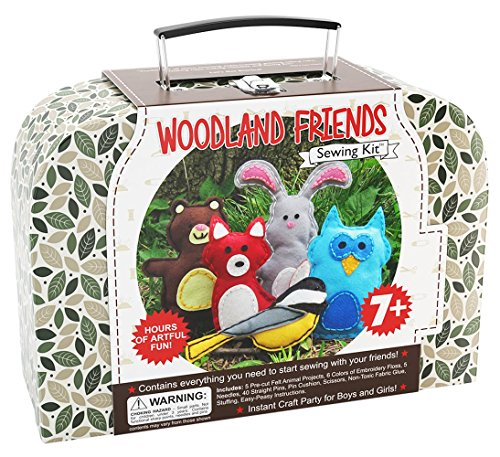 CraftLab Sewing Kits Woodland Animals Craft Educational Sewing Kit for 7 to 12 Age Kids ()