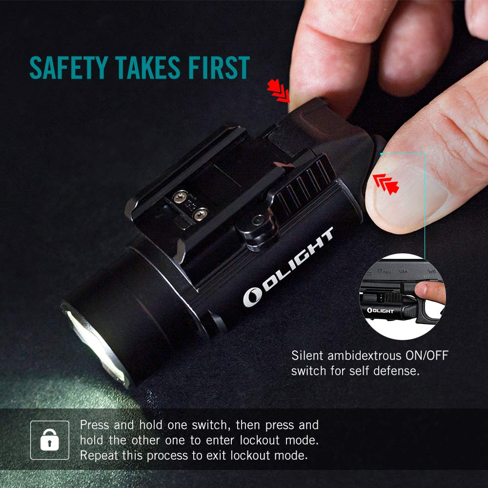 OLIGHT PL-Pro Valkyrie 1500 Lumens Cree XHP 35 HI NW Rechargeable Weaponlight Rail Mount Tactical Flashlight with Strobe (Black) by OLIGHT (Image #6)