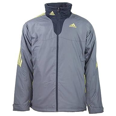 61e316d891a4c adidas Universal ALLWETTER Jacke Men Grey Padded Warm: Amazon.co.uk ...