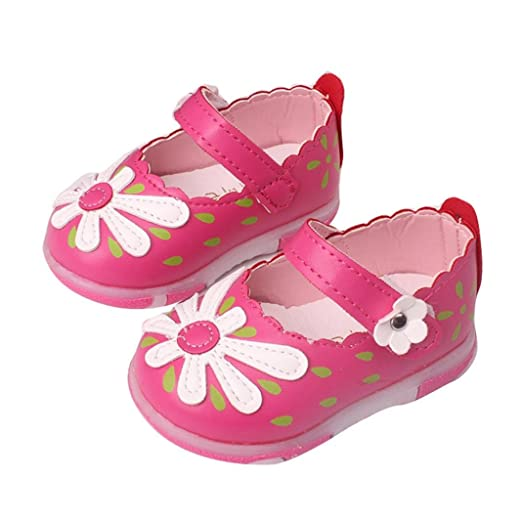 85f9444fb Amazon.com  Voberry Baby Kids Girls Sunflower Mary Jane Shoes Soft ...