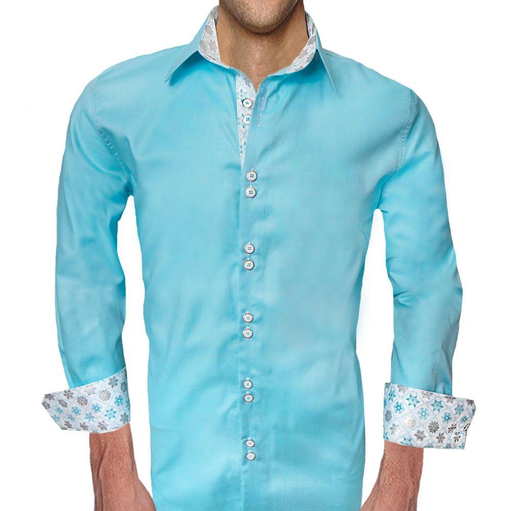 Anton Alexander Metallic Winter Accent Dress Shirts Made In The
