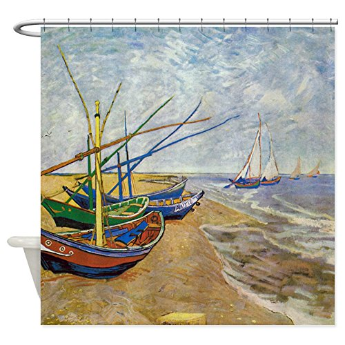 Van Gogh Bed (CafePress - Van Gogh Fishing Boats Shower Curtain - Decorative Fabric Shower Curtain (69