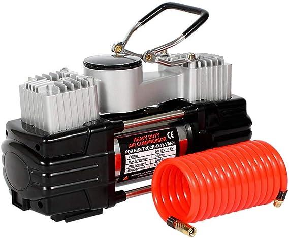 Doifck 12V DC Bomba de inflado de neumáticos Digital, Bomba de compresor de Aire portátil eléctrica de 150 PSI con indicador para automóviles, Camiones, Bicicletas o básquetbol, colchones de Aire: Amazon.es: Deportes