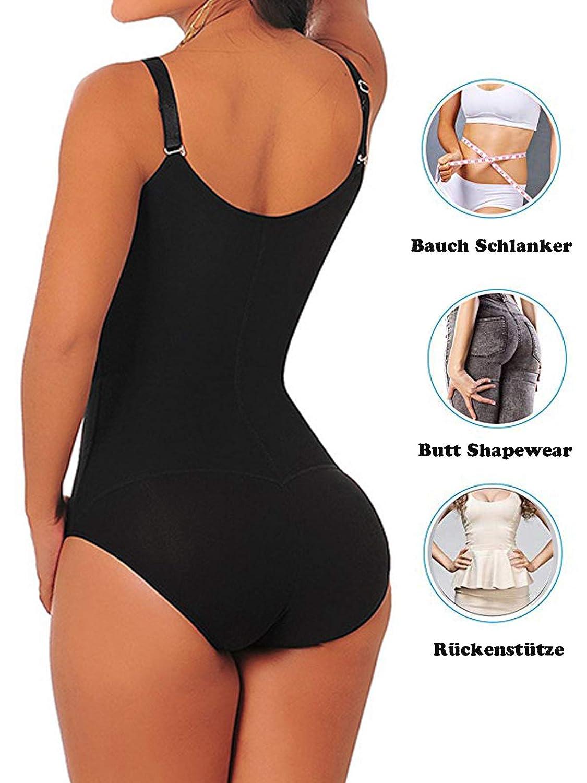 OLor/é Damen Einstellbar Shapewear Bauchkontrolle Body Shaper Korsett /& Taillenformer Formende Bodys stark Formbody Bodysuit