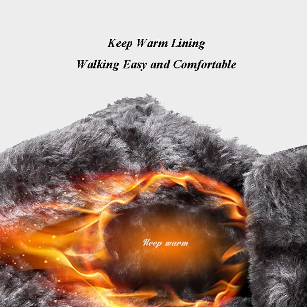 DZX Winter Outdoor Herren Rutschfeste Wasserdichte Wanderschuhe Wanderschuhe Wanderschuhe Warme, Pelzbesetzte Schneeschuhe - Für Camping and Skifahren,Men-Khaki-42 1e181f