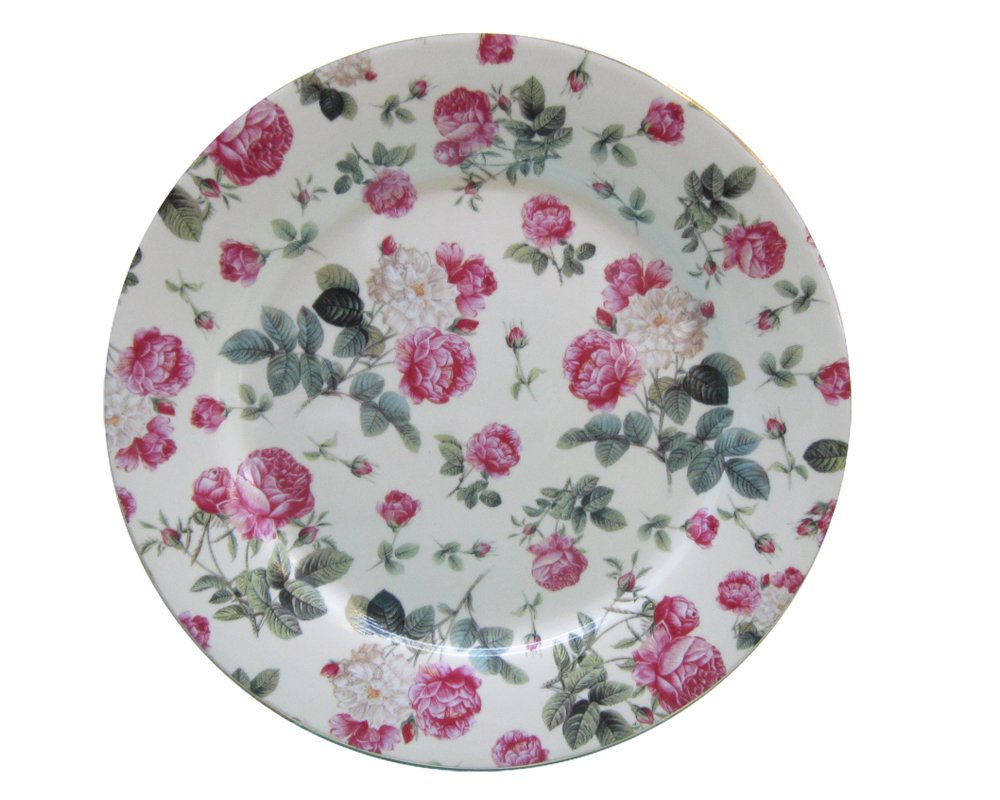 Gracie China Rose Chintz Porcelain 8-Inch Dessert Plate Set of 4, Assorted Four Designs by Gracie China by Coastline Imports (Image #5)