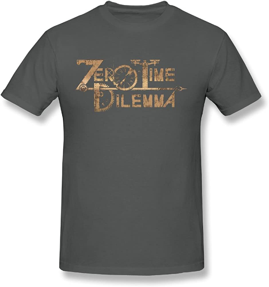 Kazzar Men's Zero Time Dilemma Logo Art T Shirt