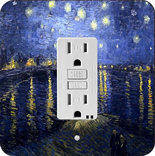 Rikki Knight Van Gogh Starry Night Single GFI Light Switch (Knight Night Light)