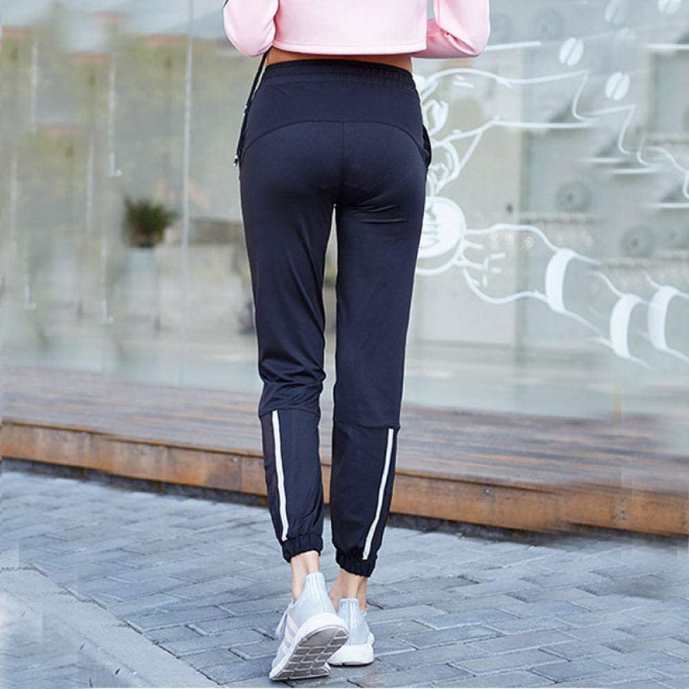 MAIMOMO Pantalones Pirata de Fitness para Mujer Pantalones de Yoga Reflectantes para Mujer, Medias de compresión para Correr, Transpirables, Mallas sexys, Mallas Deportivas, Pantalones para Mujer