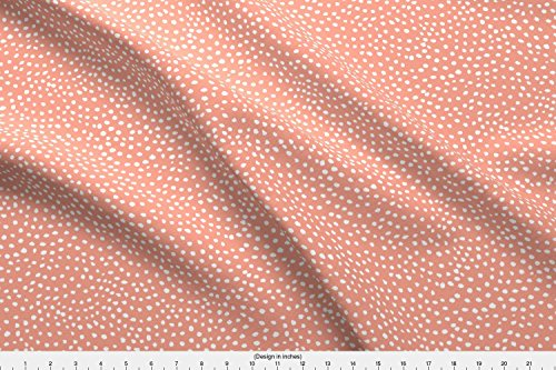 Spoonflower Coral Fabric - Coral Dots Scallops Ivieclothco - by Ivieclothco Printed on Performance Piqué Fabric by The Yard