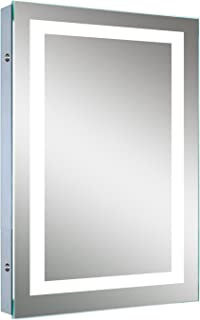 amazon com ove cassini led lighted medicine cabinet 25 inch by 20 rh amazon com Lighted Medicine Cabinet Light Covers Side Lighted Recessed Medicine Cabinet
