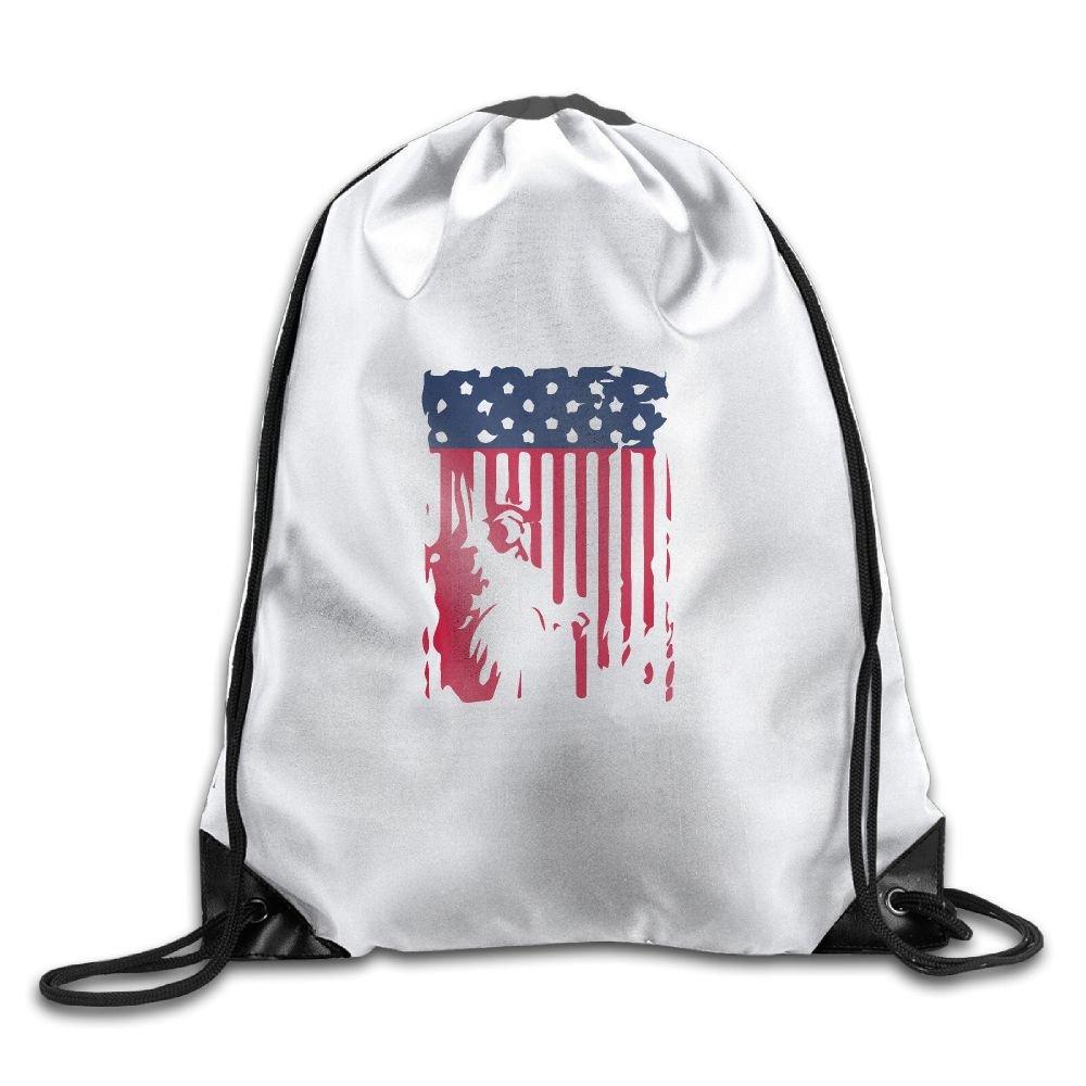 Mesh Pocket White Trim Sport Drawstring Backpack