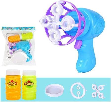 Niños Máquina de burbujas Completamente automático Juguete de burbujas ventilador eléctrico 2 en 1. Pistola de burbujas Divertidos juguetes de burbujas Adecuado para niños y niñas mayores de 3 años.: Amazon.es: Hogar
