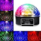 JUDYelc Disco Lights-Crystal Ball Stage Light with Rotating RGBW LED Party Light Show for Wedding Shows Dance Floor Night Club DJ Flashing (Ver. Dispaly)