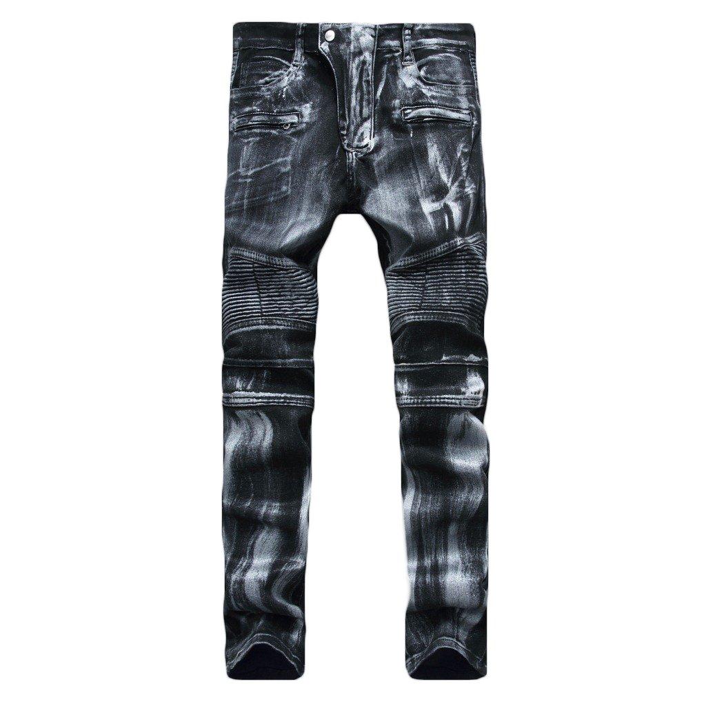 MAGE MALE PANTS メンズ B0772GNQLM 32 W|Gray Silver Gray Silver 32 W