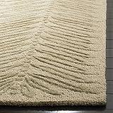 Safavieh Martha Stewart Collection MSR3612B Premium Wool and Viscose Chevron Leaves Oolong Tea Green Area Rug (8' x 10')