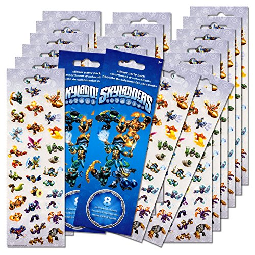 Skylanders Stickers Party Favors Pack - 16 Sheets of Skylanders Stickers -