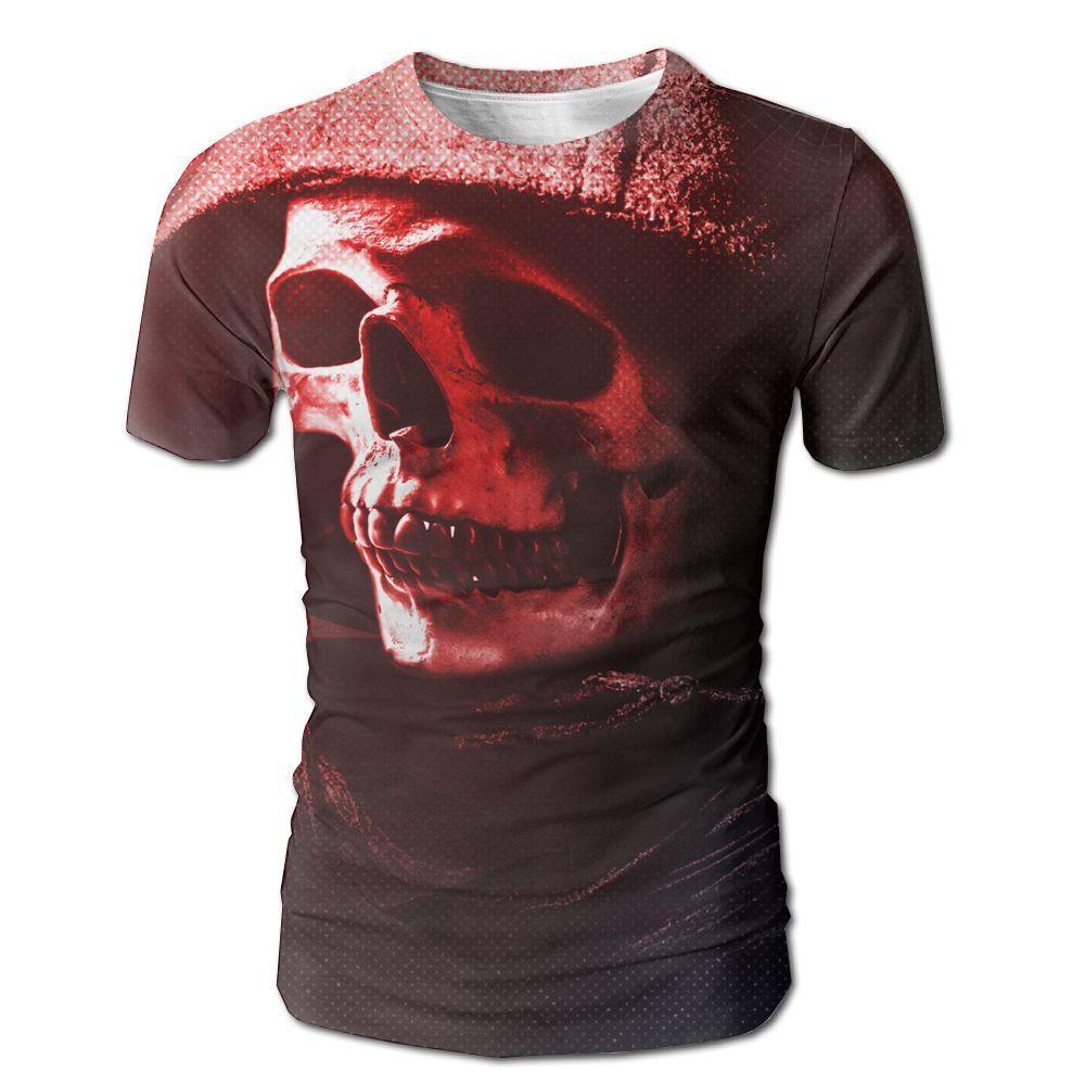 XIA WUEY Skull Art AdultQuick Dry Baseball Tshirt Graphic Tees Tops For Outdoor by XIA WUEY