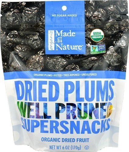 Made In Nature Organic Pitted Dried & Unsulfured Plums 6 oz (pack of 3)