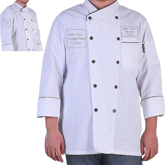 Amazon.com: Chaqueta de Chef personalizada para hotel ...