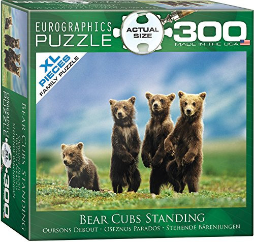 Bear Cubs Standing Puzzle, 300-Piece (Large Holiday Bear)