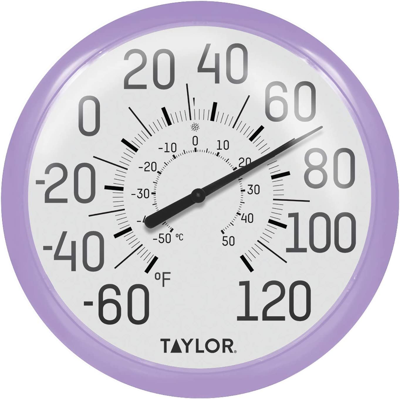 Amazon Com Taylor Precision Products 6700lc Big Bold Wall Thermometer Lilac Garden Outdoor