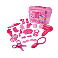 Ruiting Little Girls Pretend Makeup Set Cosmétique Salon De Beauté Toy Pretend Dress Vanity Kit pour Toddlers Kid avec Miroir Enfants kit de maquillage1 Ensemble