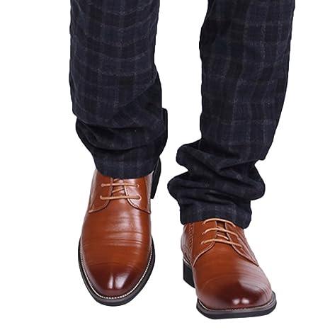 051a3f234721 Amazon.com: JJHAEVDY Men's Leather Oxford Dress Shoes Cap Toe Lace ...