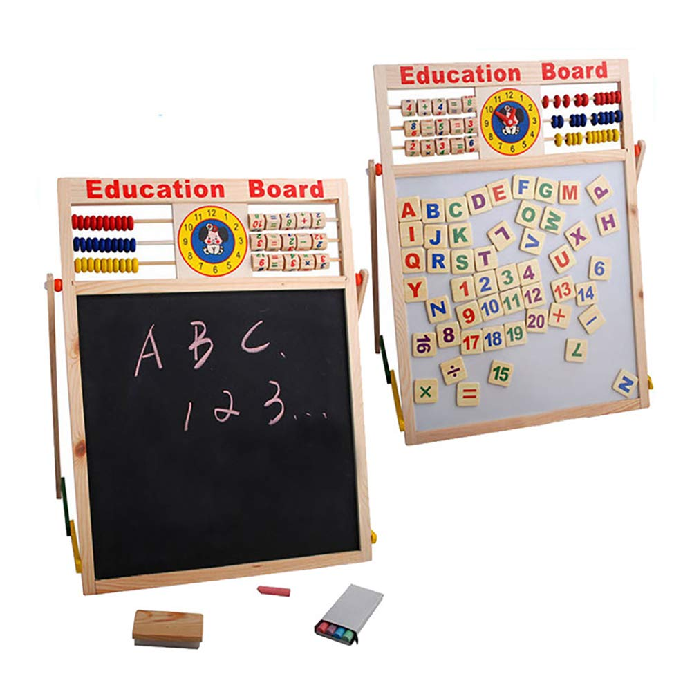 Aland-Abacus Wooden Letters Numbers Blackboard Magnetic Board Kids Educational Toys by Aland (Image #3)
