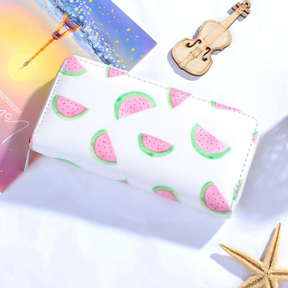 Bluelans Fashion Women Faux Leather Clutch Long Wallet Lovely Printing Card Holder Purse