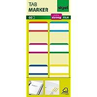 SIGEL HN201 Tab Marker Film, Haftmarker, extra stark, 25 x 38 mm, 60 Streifen