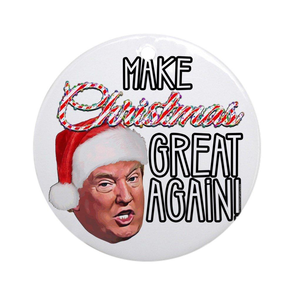 CafePress Donald Trump Great Christmas Round Holiday Christmas Ornament
