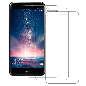 3-Unidades Cristal Templado Huawei P8 Lite 2017, POOPHUNS Protector de Pantalla Huawei P8 Lite 2017, Cristal Vidrio Templado Premium para Huawei P8 ...