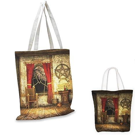 Amazon.com: Bolso bandolera de lona dorada y blanca Damasco ...