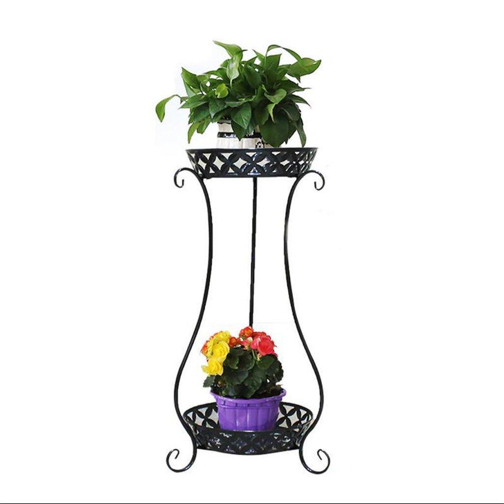 prezzi bassissimi Ripiano per fiori Iron Art Flower Stand Balcone Interno Vaso Vaso Vaso multipiano a Fiori Ripiani Scaffale del Soggiorno (colore   Nero)  garanzia di qualità