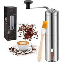 Manuell kaffekvarn, med en ren borste – bärbar rostfritt stål kvarn med vikbart rostfritt stålhandtag – perfekt för hem…