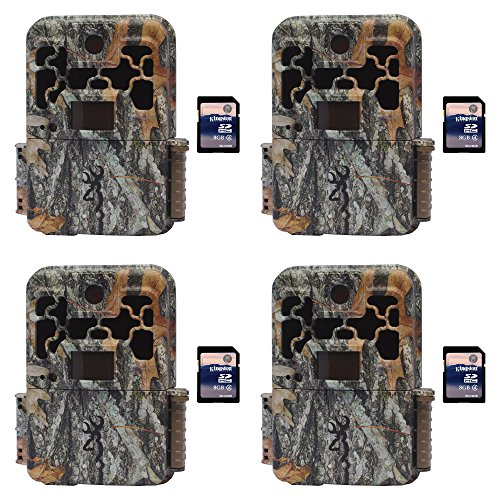Browning Trail Cameras Spec Ops FHD Platinum 10MP Game Camera, 4 Pack + SD Cards